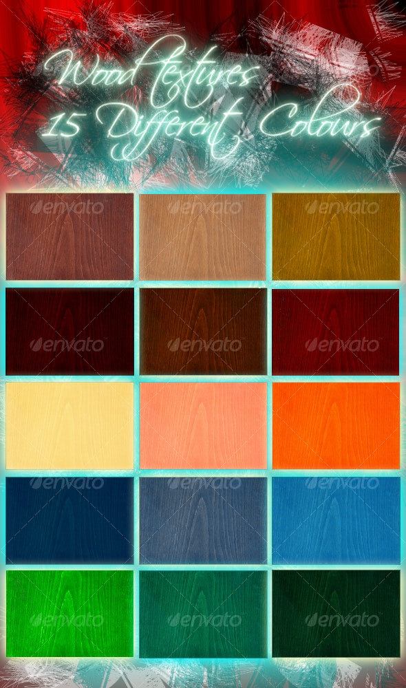 Hi-Res Wood Texture Pack-15 Different Colours - Wood Textures