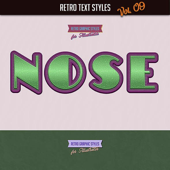 10 Retro Text Styles vol. 09