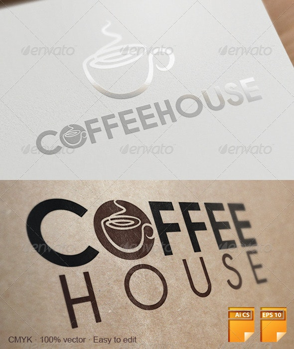 Coffee House Logo - Objects Logo Templates