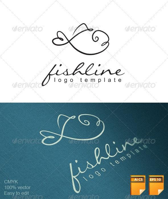 Fishline Logo - Animals Logo Templates