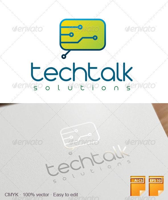 Techtalk Logo - Symbols Logo Templates