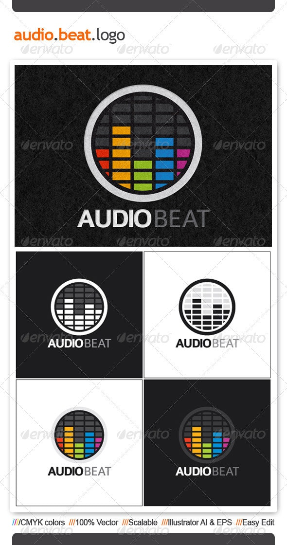Audio Beat Logo Template - Symbols Logo Templates