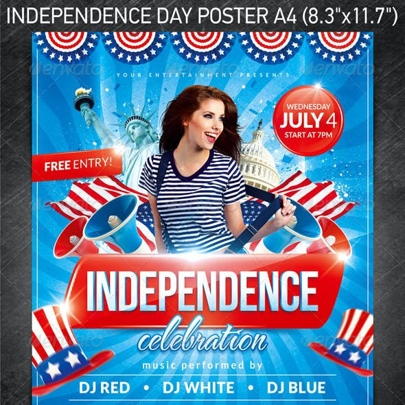Independence Day Party Poster