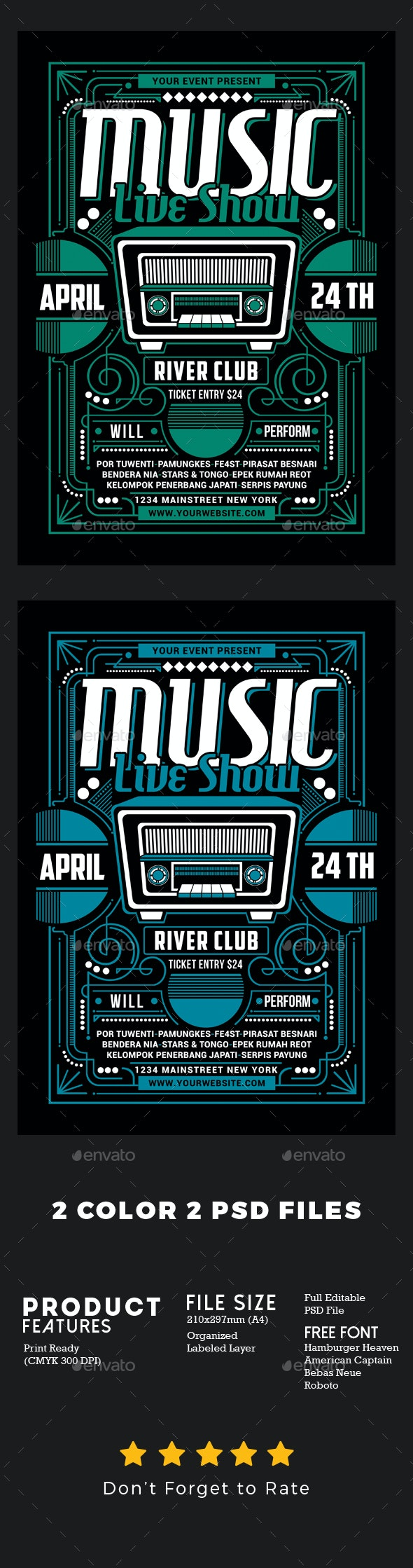 Music Live Show - Events Flyers