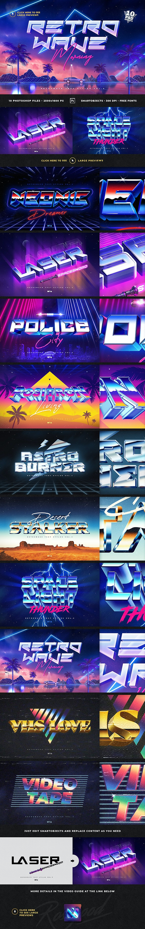 80s Retro Text Effects vol.2 - Text Effects Actions