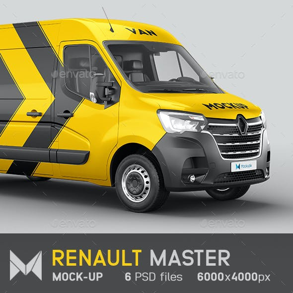 Renault Master Van Mockup