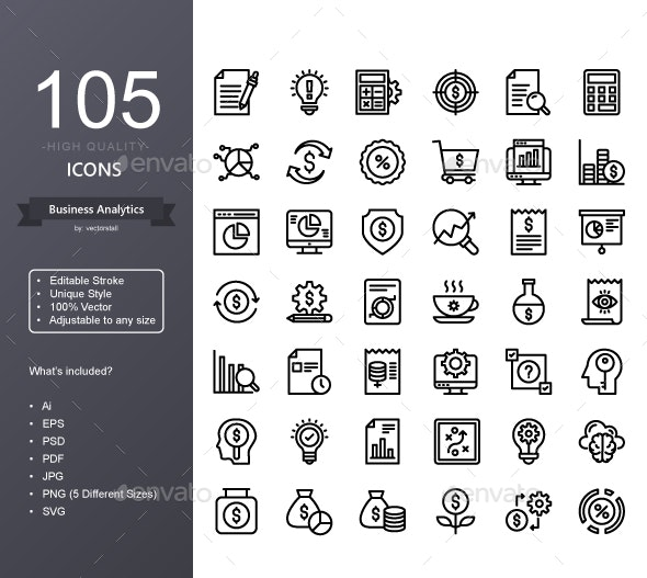 Business Analytics - Icons