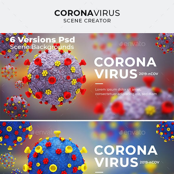 Corona Virus 3d Scene Creator Background