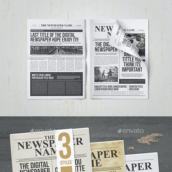 Classy Newspaper Indesign Template