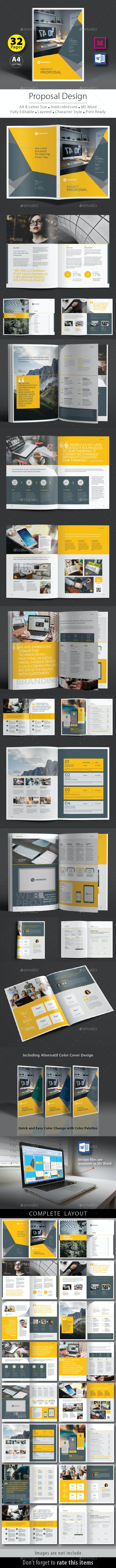 Project Proposal Design Template V.6 - Proposals & Invoices Stationery