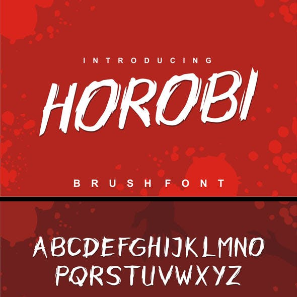 Horobi Brush Font