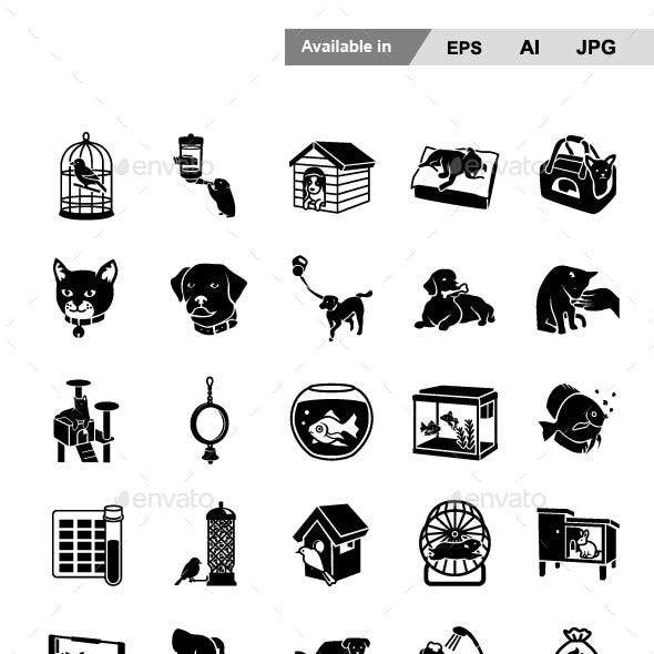 Pet Supplies Vector Icons