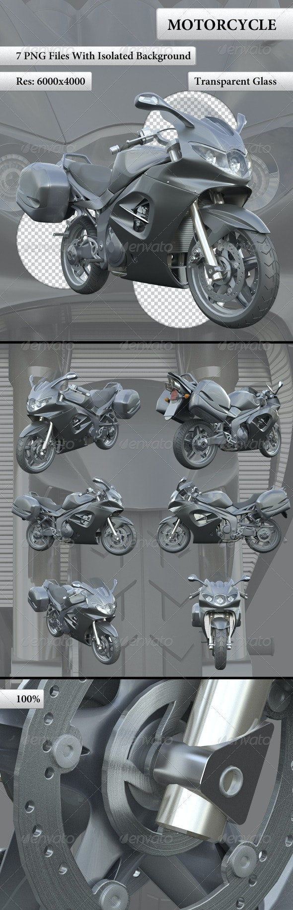 Motorcycle - Objects 3D Renders