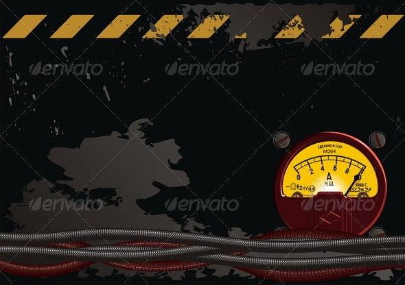 Electrical Grunge Background - Backgrounds Decorative