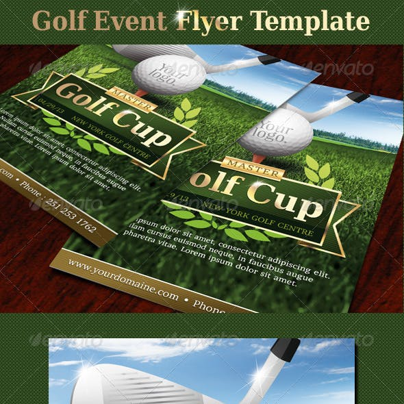 Golf event flyer template
