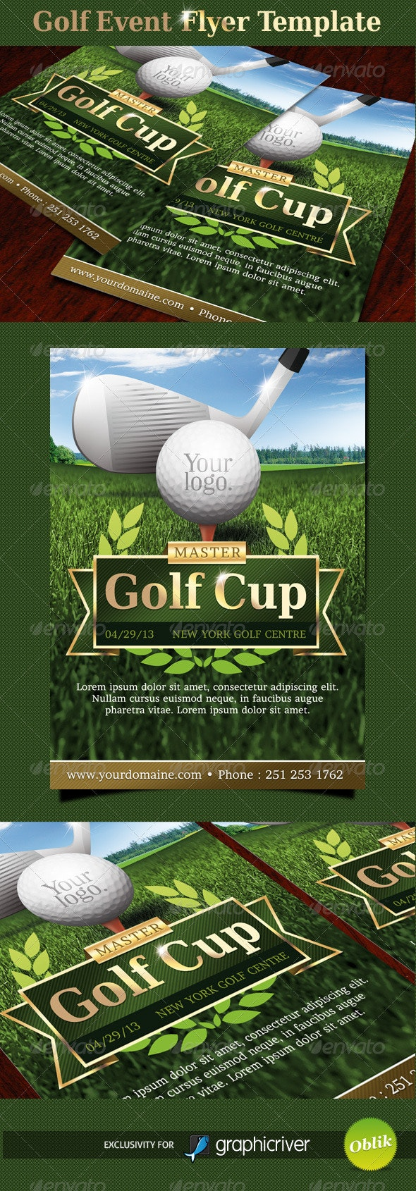 Golf event flyer template - Sports Events
