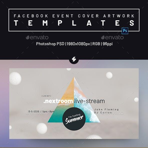 Online DJ Session vol.2 - Facebook Event Cover Templates