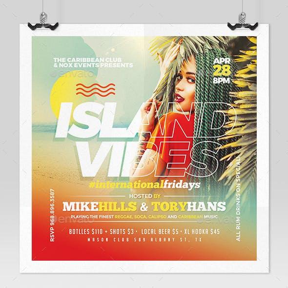 Island Vibes - Caribbean Music Flyer