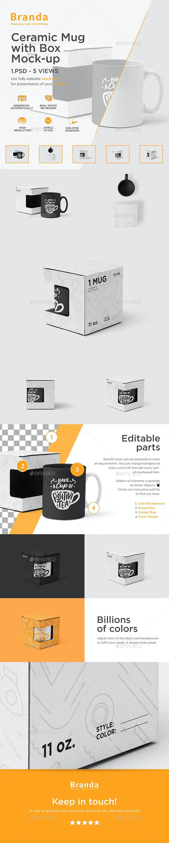 Ceramic Mug with Box Mock-up - Food and Drink Packaging
