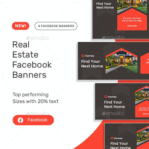 Real Estate Facebook Banner Set