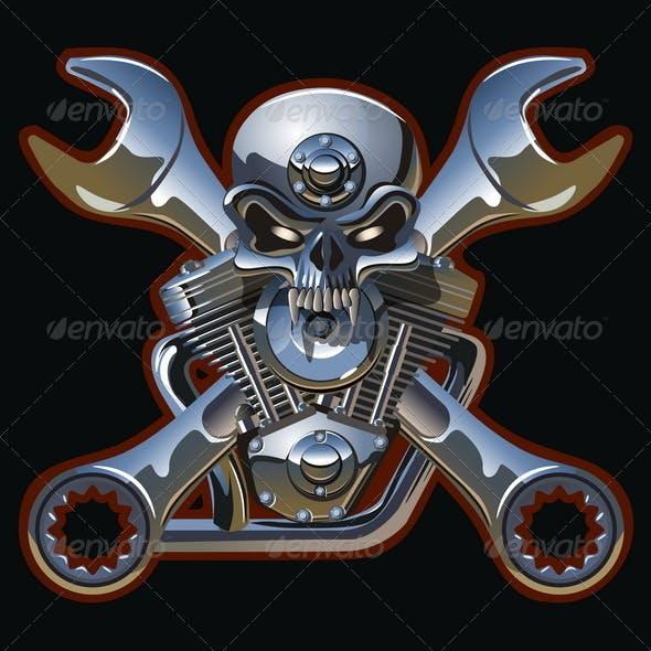 Iron Jolly Roger Skull