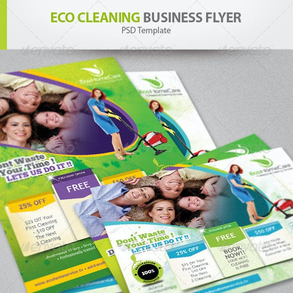Eco Cleaning Service Flyer Ad