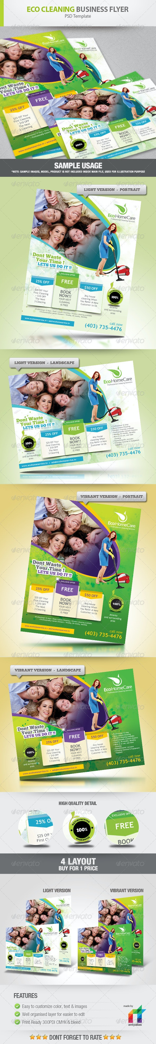 Eco Cleaning Service Flyer Ad - Commerce Flyers