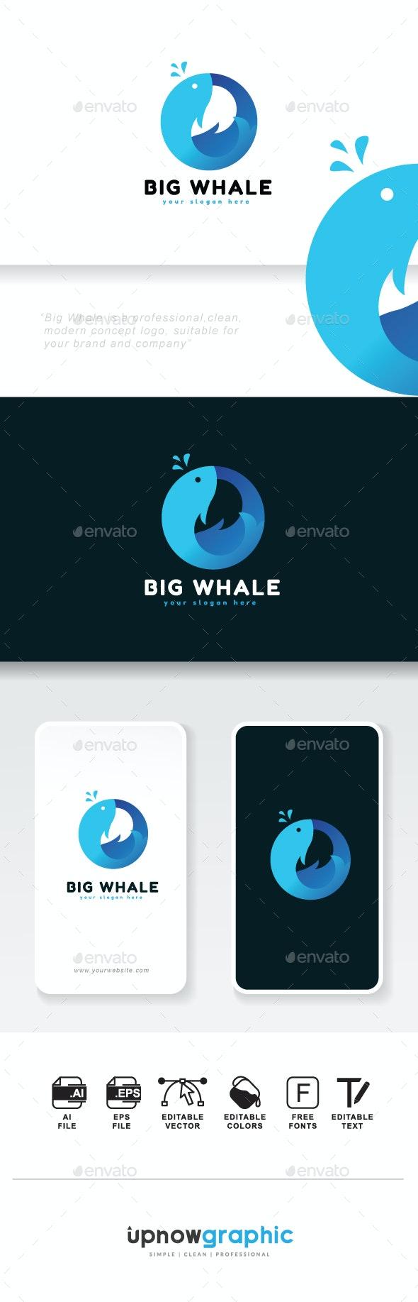 Big Whale Logo - Animals Logo Templates