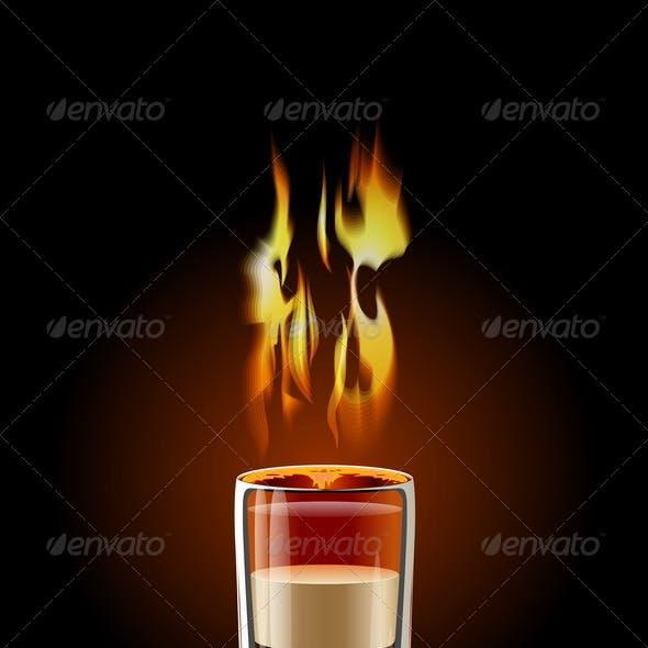 Flaming Shot Cocktail