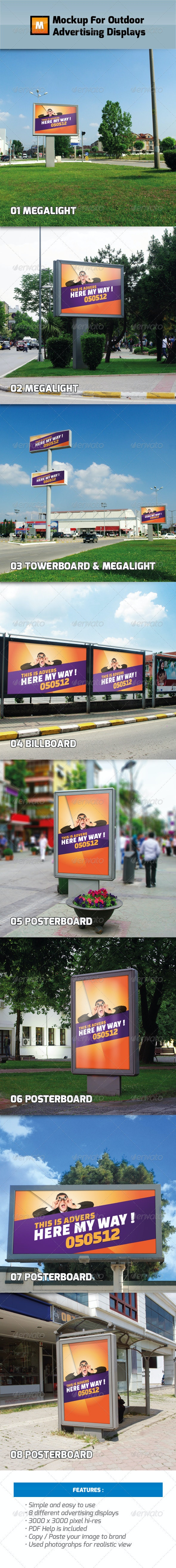 Mockup For Outdoor Advertising Displays - Signage Print