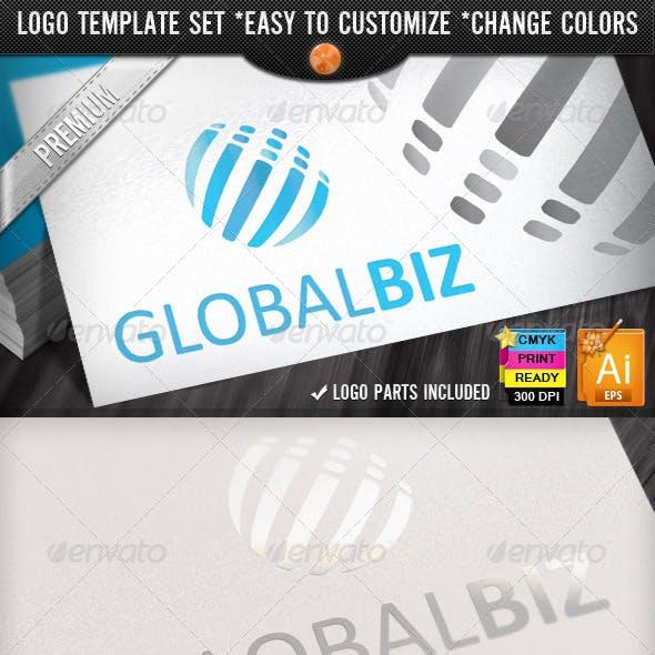 Modern Business Abstract Global Logo Design