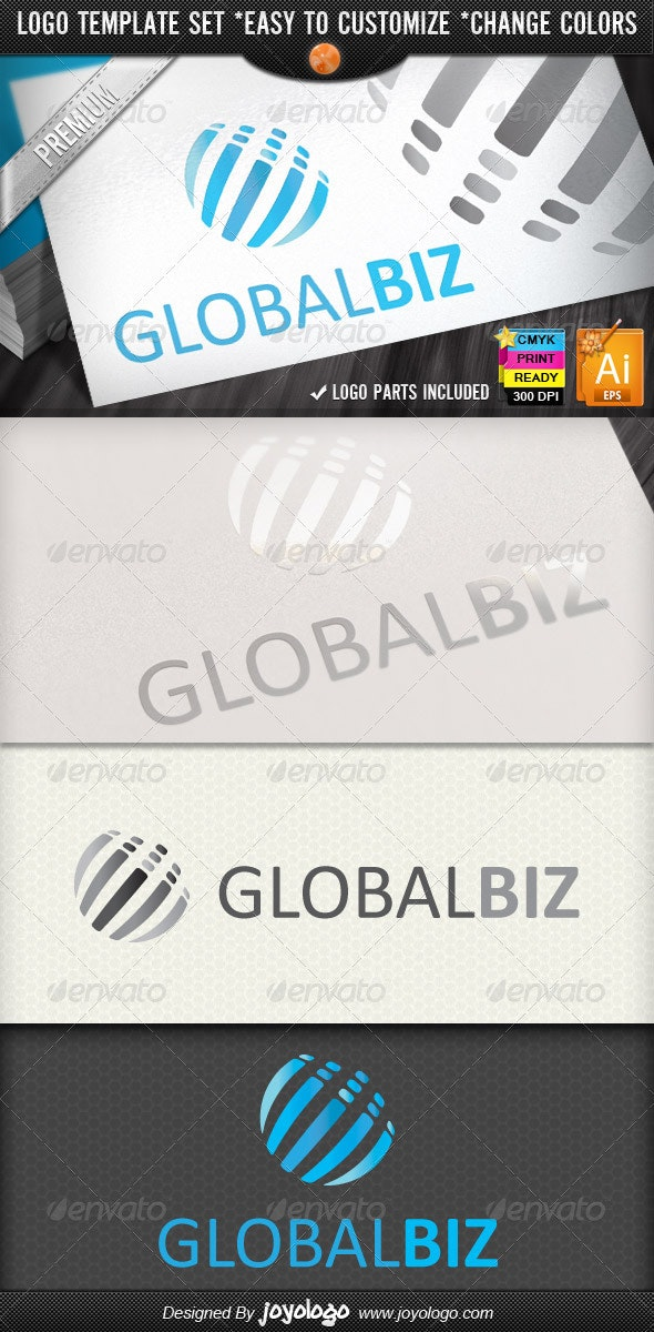 Modern Business Abstract Global Logo Design - Vector Abstract