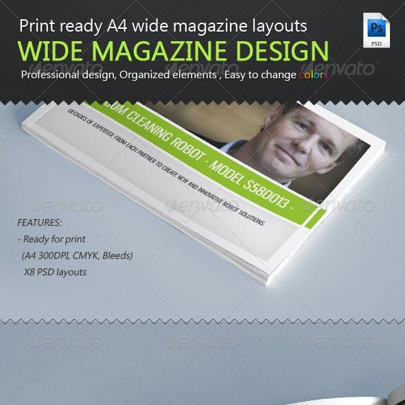 A4 Wide Magazine Print Ready