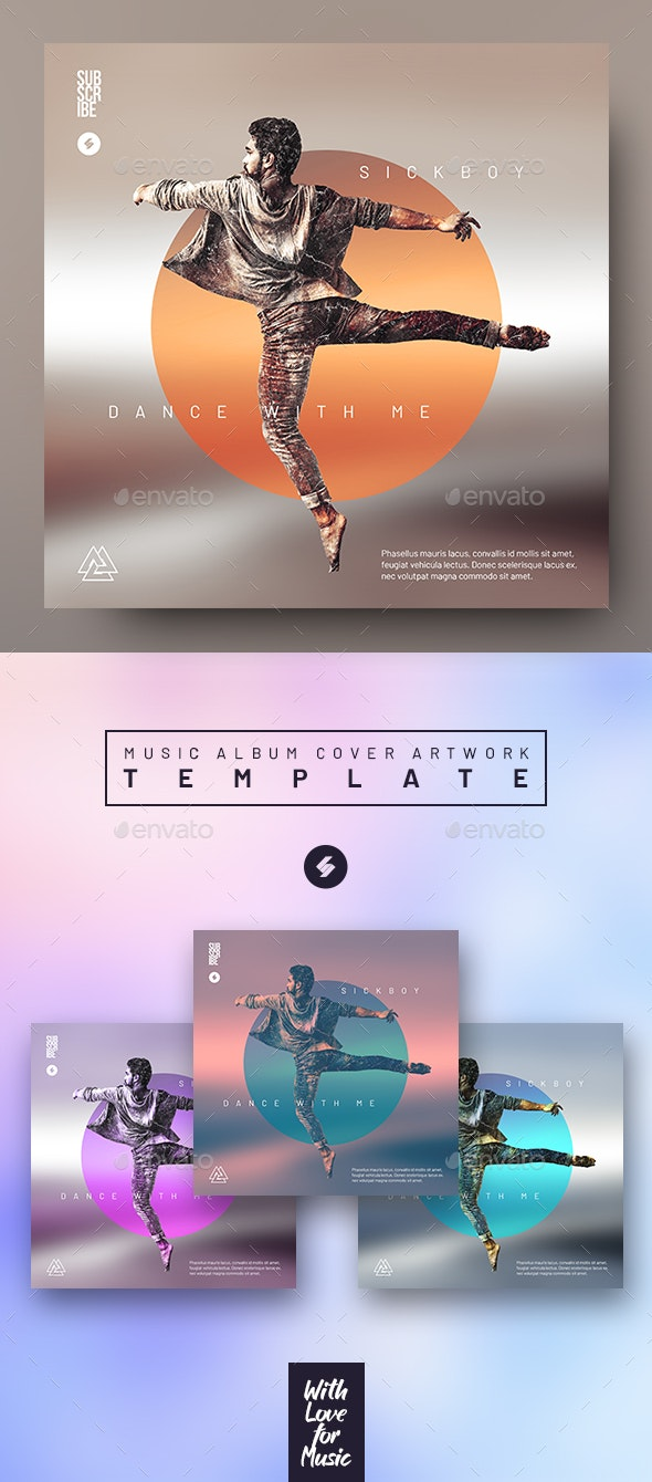 Dance With Me - Music Album Cover Artwork Template - Miscellaneous Social Media