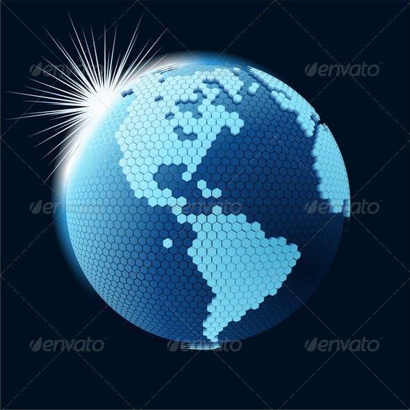 Global Cellular Network Theme