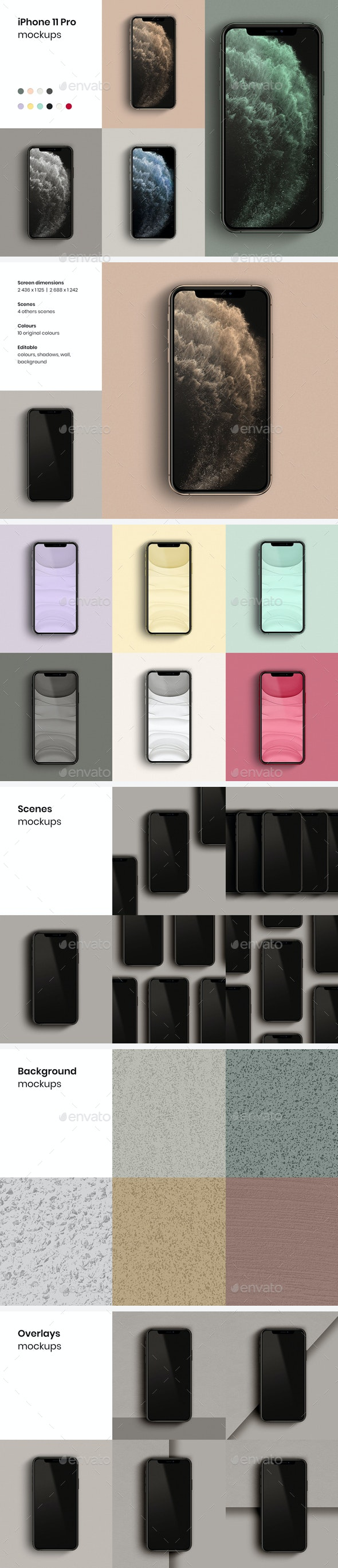 iPhone 11 Pro Mockups - Product Mock-Ups Graphics