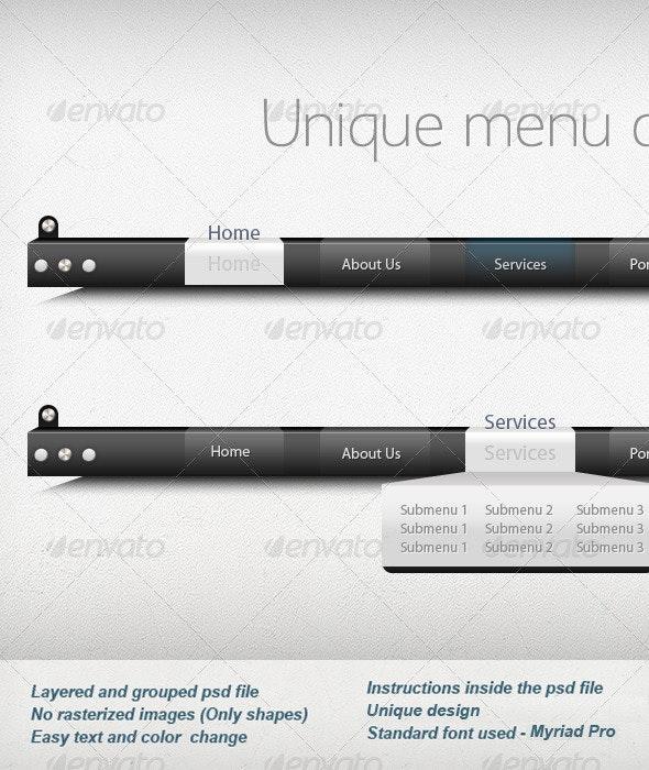 Unique Navigation Bar Design - Navigation Bars Web Elements
