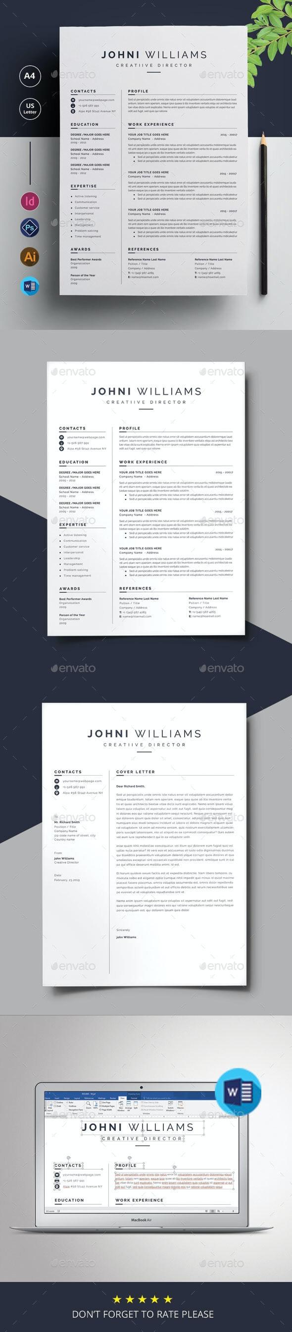 Minimal Resume - Stationery Print Templates