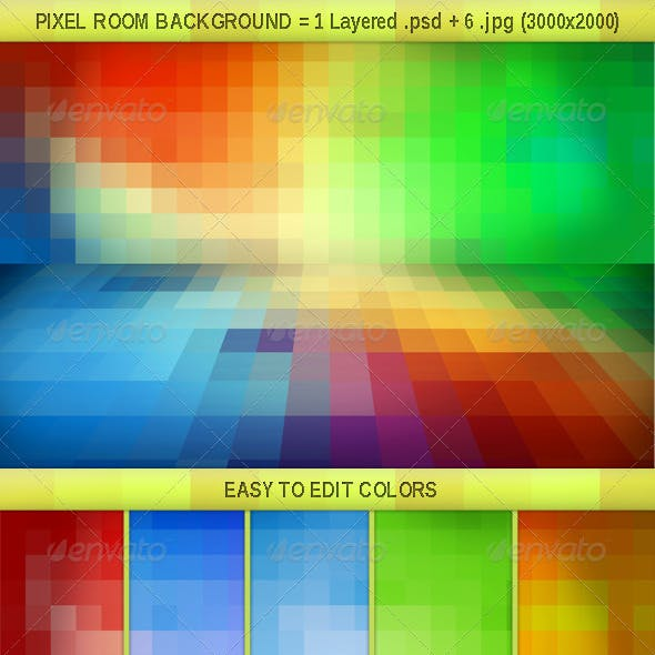 Pixel Room Background