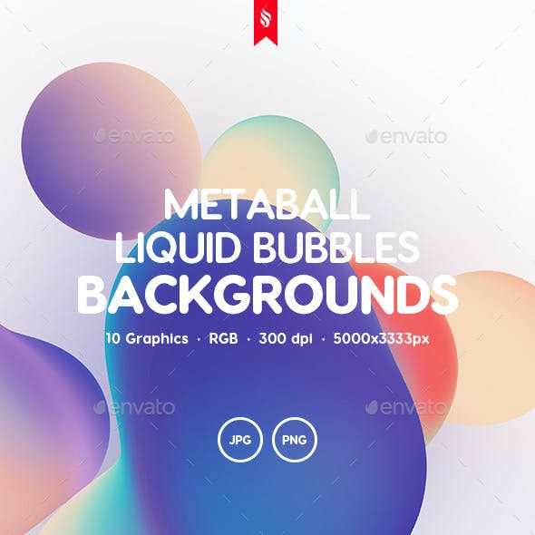 Metaball - Holographic Liquid Bubbles Backgrounds