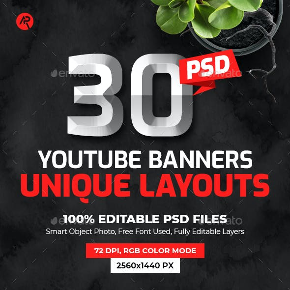 30-Youtube Multipurpose Cover Banners