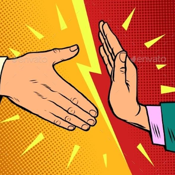 Handshake Ban Hygiene and Sanitation