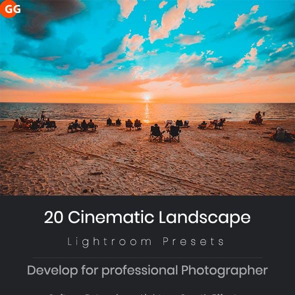 20 Cinematic Landscape Lightroom Presets