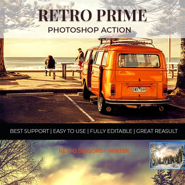 Retro Photoshop Actions - Premium Set
