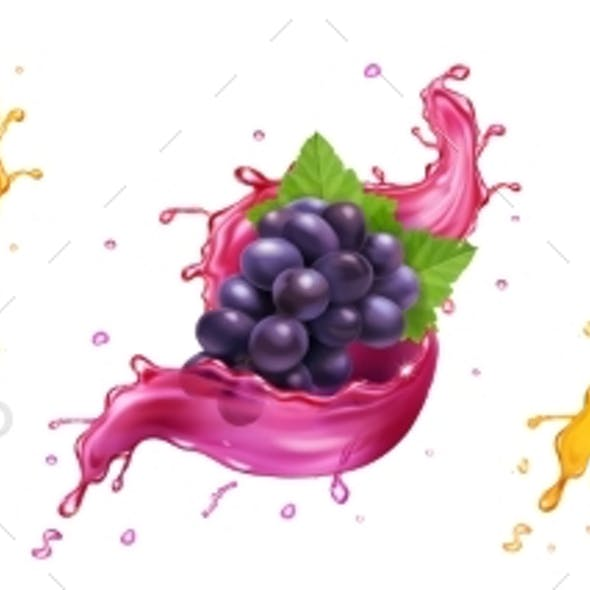Fruits in Splash of Juice