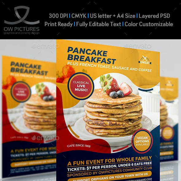 Pancake Breakfast Flyer Template