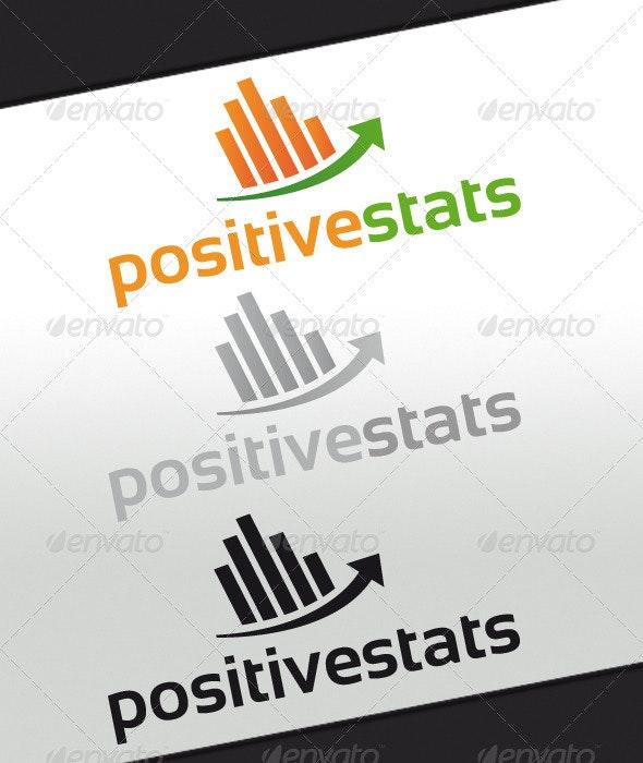 Positive Stats Logo - Symbols Logo Templates