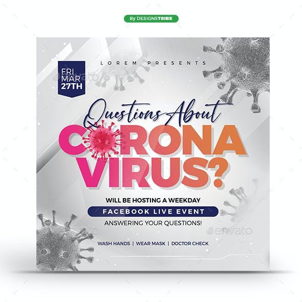 Coronavirus Live Event Flyer & Banner