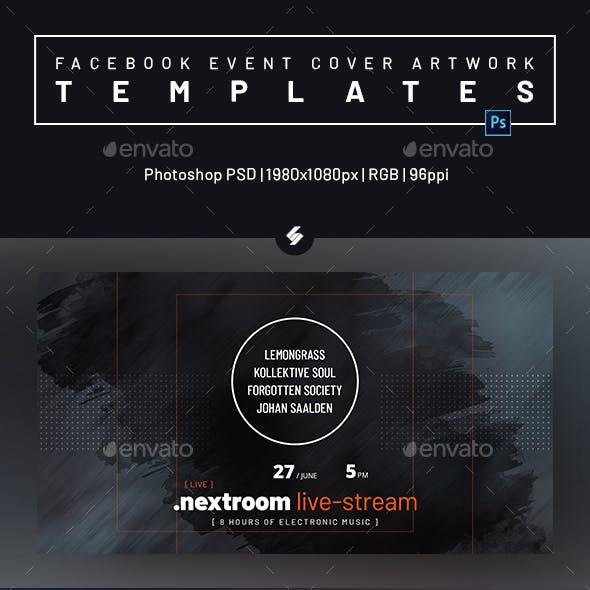 Online DJ Session vol.3 - Facebook Event Cover Templates