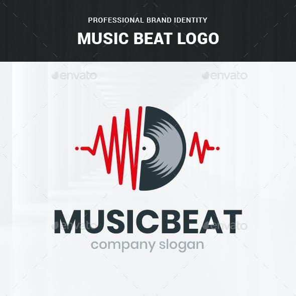 Music Beat Logo Template